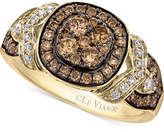 LeVian Le Vian Chocolatier® Framed clustersTM Diamond Ring (9/10 ct. t.w.) in 14k Gold