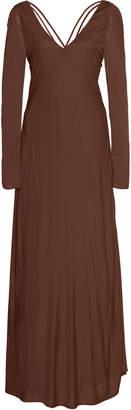 Cult Gaia Becca Satin-Jersey Empire Dress