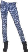 Etoile Isabel Marant Destroyed Embroidered Denim Jeans