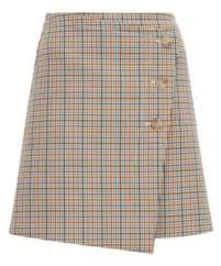 BOSS Button-front A-line skirt with a multi-coloured check