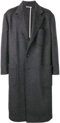 Thom Browne Oversized Pocket Sack Overcoat