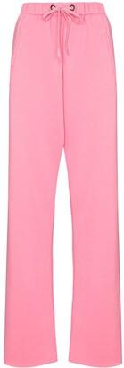 Natasha Zinko Studded-Pocket Straight-Leg Track Pants