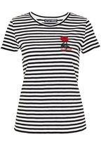 Hallhuber Rose patch stripe top
