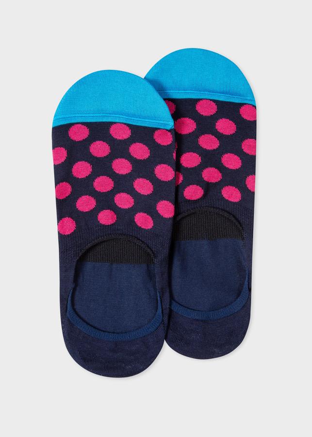 Paul Smith Men's Navy Bright Spot Loafer Socks