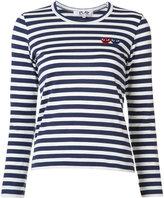 Comme des Garcons Breton stripe logo T-shirt