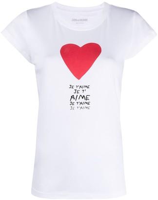 Zadig & Voltaire heart print T-shirt