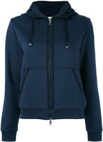 Moncler mix media hoodie - women - Cotton/Polyester - M