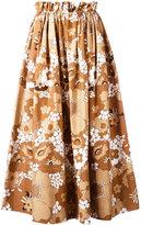 Chloé floral print skirt - women - Cotton - 38