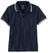 L.L. Bean L.L.Bean Premium Double L Polo, Relaxed Fit Short-Sleeve Dot