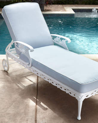 Brown Jordan Day Lily Adjustable Outdoor Chaise with Wheels
