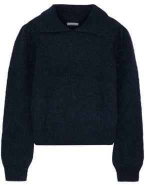 Ganni Callahan Brushed Ribbed-knit Sweater