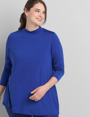 Lane Bryant Mock-Neck Swing Tee