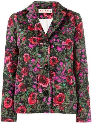 Marni Floral Single Breasted Blazer