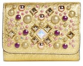 Christian Louboutin Women's Spiked Leather French Wallet - Metallic