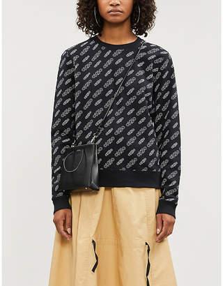 Calvin Klein Brand-print relaxed-fit cotton-jersey sweatshirt