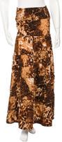 Torn By Ronny Kobo Printed Maxi Skirt