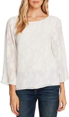 Vince Camuto Floral Jacquard Bell Sleeve Blouse