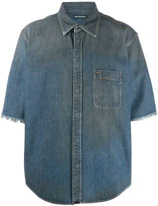 Balenciaga Normal fit short-sleeve logo shirt