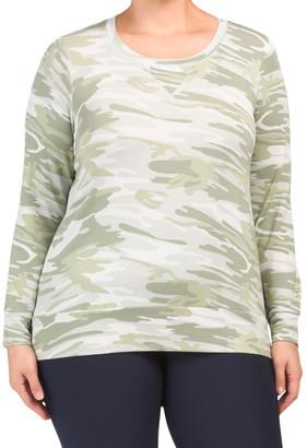 Plus Camo Pullover Top