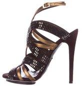 Roberto Cavalli Embellished Caged Sandals