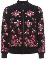 French Connection Gilliam Floral Embroidered Bomber