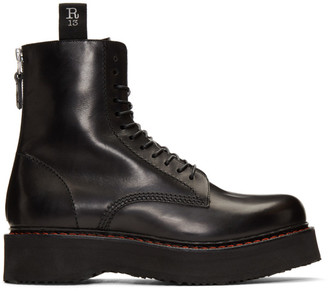 R 13 Black Single Stack Boots