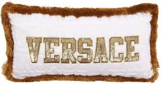 Versace Logomania Fringed Pillow