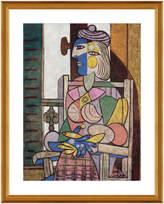McGaw Graphics Femme assise devant la fenetre by Pablo Picasso (Framed)
