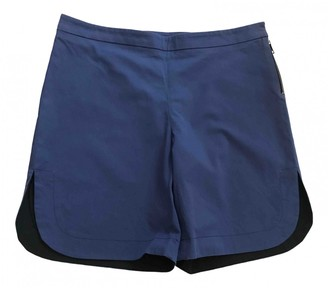 Vionnet Blue Cotton Shorts for Women