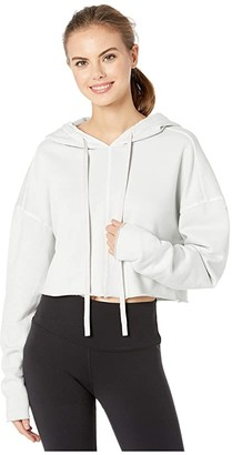 Alo Washed Edge Hoodie (Chalk Wash) Women's Clothing