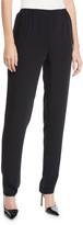 Caroline Rose Crepe Suzette Pull-On Slim Pants