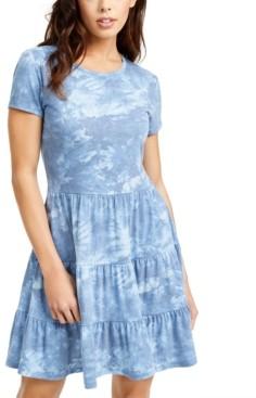 BeBop Juniors' Printed Tiered T-Shirt Dress