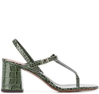 L'Autre Chose Croc Effect Sandals