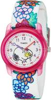 Timex Time Machines Analog X Peanuts Elastic Fabric Strap (Little Kids/Big Kids)