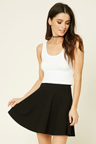 Forever 21 FOREVER 21+ Stretch-Knit Flared Skirt