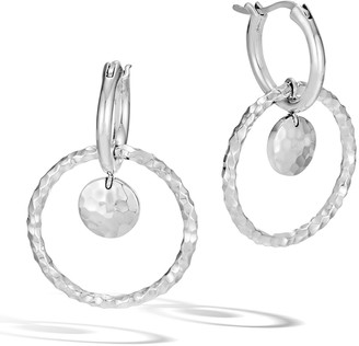 John Hardy Dot Hammered Interlock Drop Earrings