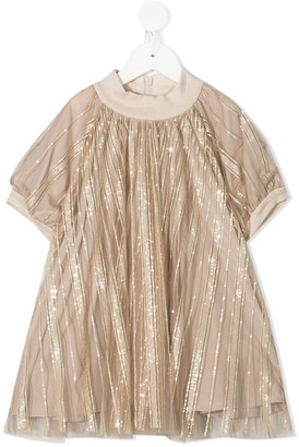 BRUNELLO CUCINELLI KIDS Gold Tunic Top