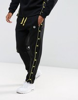 Hype Skinny Joggers In Black With Poppers