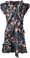 Isabel Marant embroidered shift dress - women - Cotton/Acrylic/Brass - 38