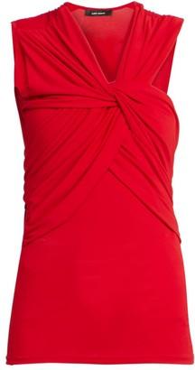 Isabel Marant Galina Sleeveless Knotted Jersey Top