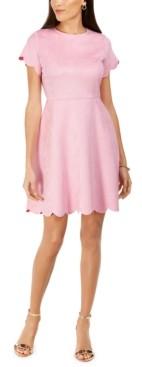 Pappagallo Faux Suede A-Line Dress