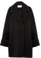 Diane von Furstenberg Long Sleeve Collard Trench