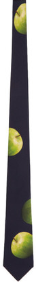 Paul Smith 50th Anniversary Black and Green Apple Tie