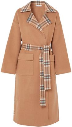 REJINA PYO Meryl Convertible Paneled Checked Wool-blend Coat