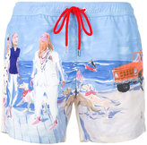 Moncler printed track shorts - men - Polyamide - L