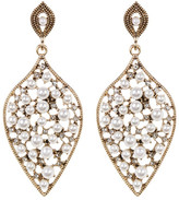 Natasha Accessories Teardrop Faux Pearl Earrings