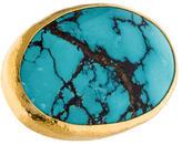 Gurhan 24K Large Turquoise Gobi Ring w/ Tags
