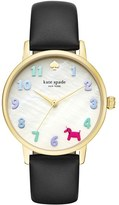 Kate Spade Women's Metro Balloon Leather Strap Watch, 34Mm