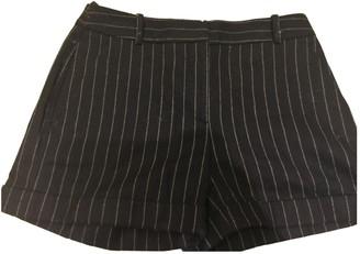 Alexander McQueen Navy Cotton Shorts