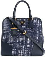 Prada Pre Owned tweed patterned tote bag